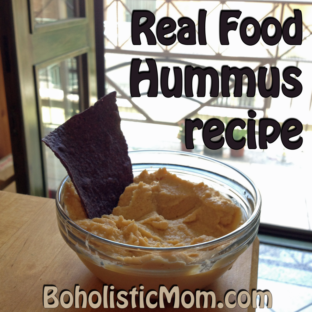 Real Food Hummus Recipe | Boholistic Mom