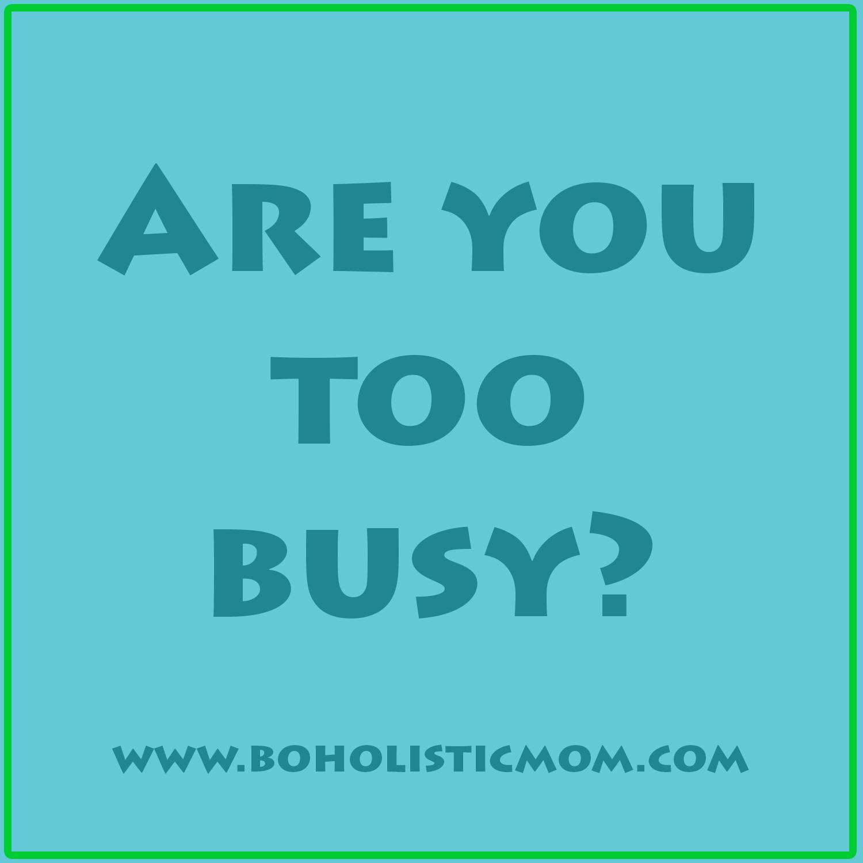 boholistic mom are you too busy boholistic mom