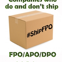 Companies Who Do and Don't Ship FPO/APO/DPO