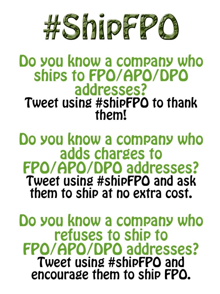 #ShipFPO | Boholistic Mom @BoholisticMom