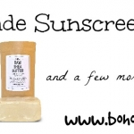 Homemade Sunscreen Recipe | Boholistic Mom