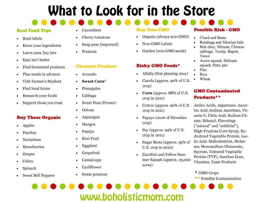 What to Look for in the Store | Boholistic Mom