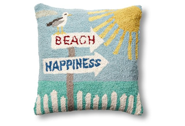 Beach Happiness Wool Pillow | Boholistic Mom