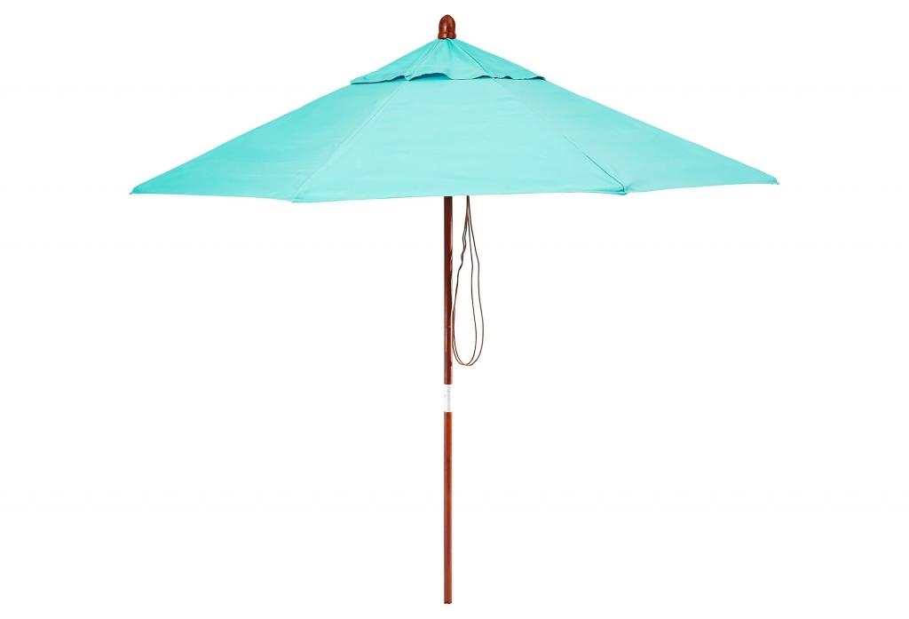 Sunbrella Patio Umbrella, Aruba | Boholistic Mom