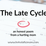 The Late Cycle | Boholistic Mom