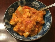 Cauliflower and Sweet Potato Curry | BoholisticMom.com