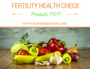 Download a health check at Boholistic Mom