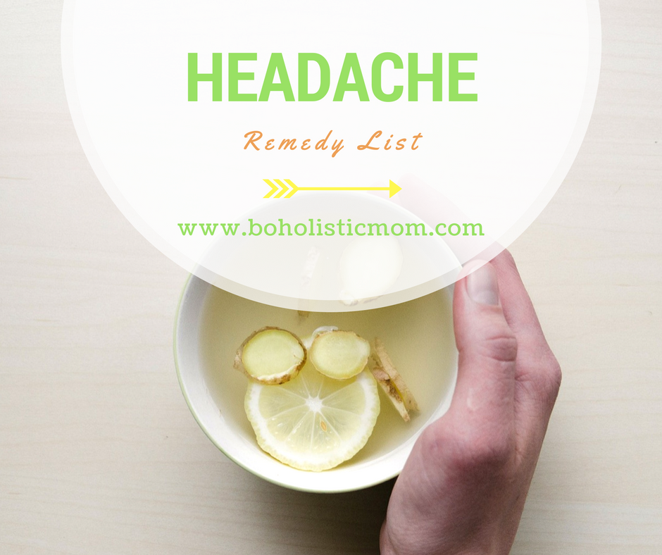 Headache Remedy List